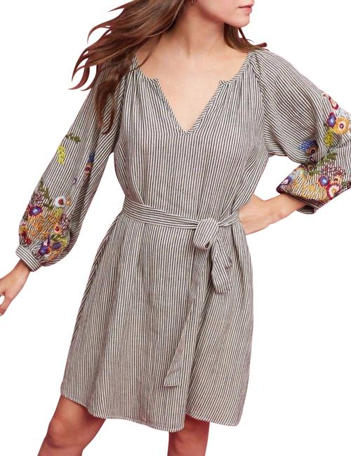 Item - Multi-color XS Lindsey Embroidered Tunic Mid-length Night Out Dress Size 2 (XS)