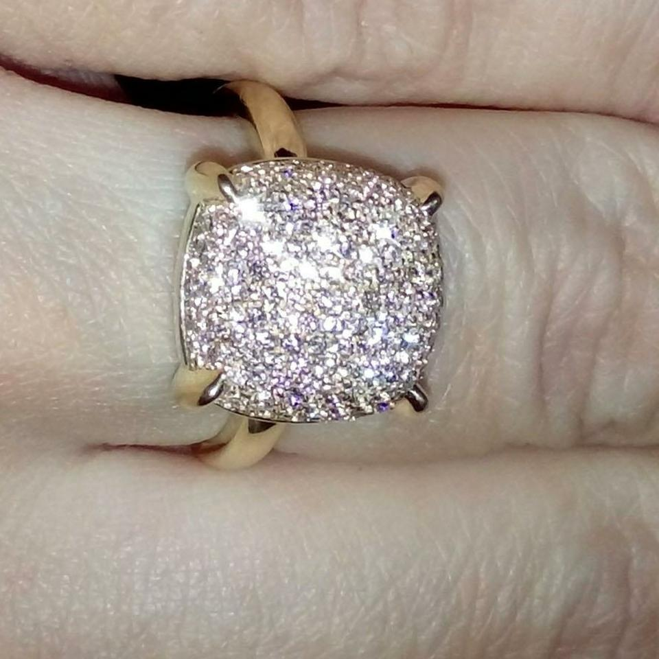 a259dcdef Tiffany & Co. Paloma Picasso Sugar Stack Diamond 18k Gold Ring. 12345678910