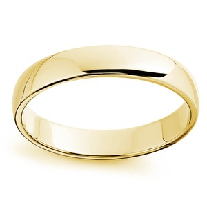 Avital & Co Jewelry Yellow Gold 3.5 Mm 14k Ring Men's Wedding Band