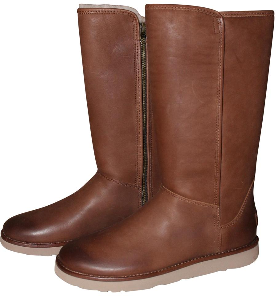 a04dd74f02d UGG Australia Brown Tall Abree Ii Leather Snow Winter Boots/Booties Size US  10 Regular (M, B) 59% off retail