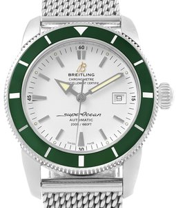 Breitling Breitling Superocean Heritage 42 Silver Dial Green Bezel Watch A17321