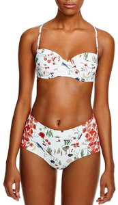 Tory Burch NEW!!! TAGS PRINTED HIGH WAISTED UNDERWIRE BIKINI BATHING SWIMSUIT