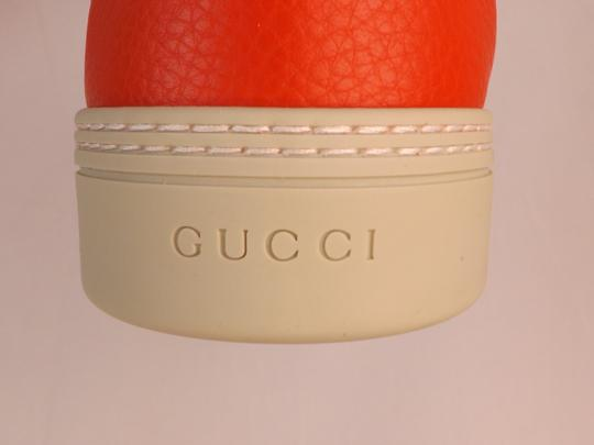 Gucci Red Leather Gg Guccissima Hi Top Sneakers 6.5 7.5 #409766 Shoes