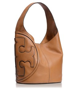 Tory Burch Leather Logo Hobo Slouchy Shoulder Bag