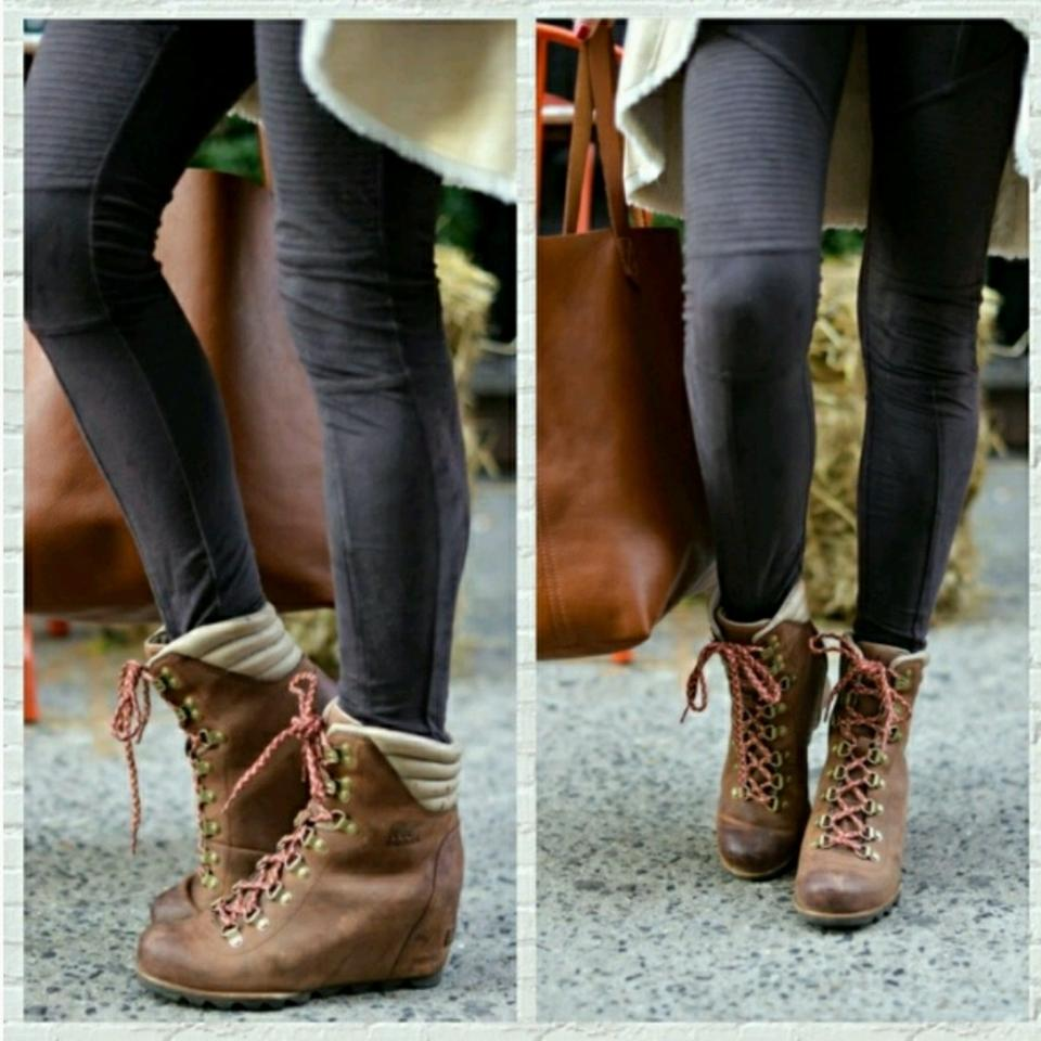 19e22a424d7ca Sorel Elk - British Tan Conquest Wedge Ankle Boots/Booties Size US 8  Regular (M, B) 15% off retail