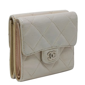 Chanel Signature Lambskin Leather Quilted Double Sided Wallet