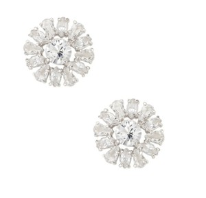 Kate Spade KATE SPADE RISE TO THE OCCASION STUDS EARRINGS CLEAR SILVER W DUST BAG