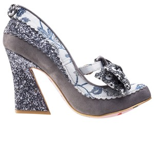 Irregular Choice Silver/Gray Pumps