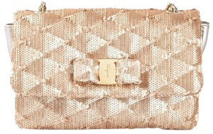 Salvatore Ferragamo Holiday Sparkle Sequin Party New Year's Cross Body Bag