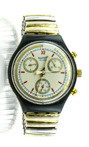 Swatch Collectible Vintage Swatch Chronograph Two Tone Unisex Watch