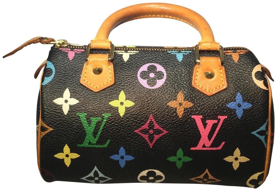 89351943c47f Louis Vuitton Speedy Mini Sac Hl Black Multicolor Canvas Cross Body ...