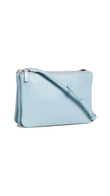 Item - Trio Small In Baby Blue Lambskin Leather Cross Body Bag