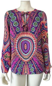 Alice & Trixie Silk Keyhole Lightweight Bell Sleeve Spring Tunic