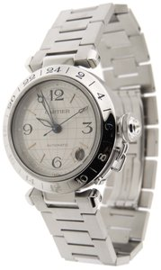 Cartier Cartier Pasha C GMT Globe Stainless Steel Automatic 35mm Date Watch