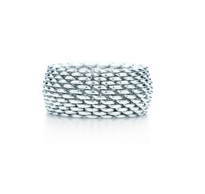 7e9f03ff5 Tiffany & Co. Sterling Silver Somerset Mesh Size 8 Ring - Tradesy