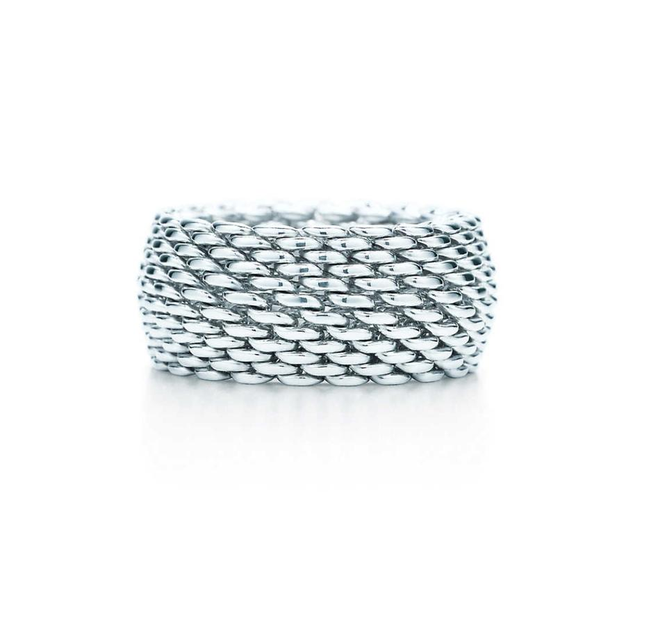521c8d8bacc24 Tiffany & Co. Sterling Silver Somerset Mesh Size 8 Ring 62% off retail