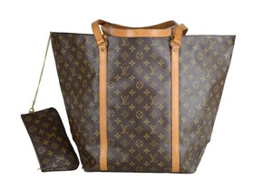 Louis Vuitton Sac Shopping Tote in Brown
