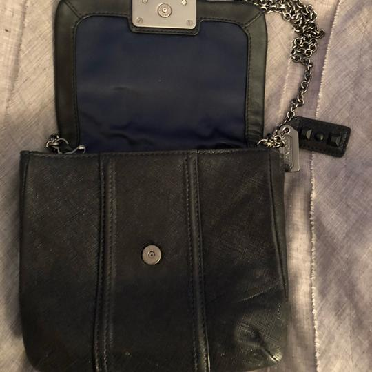 bb1b11714698 Coach Studded - with Silver Link Chain Black Cross Body Bag - Tradesy