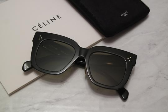 49d53c50e3 Céline Black New Cl41444 Kim Oversized Glass Lens Square Sunglasses -  Tradesy