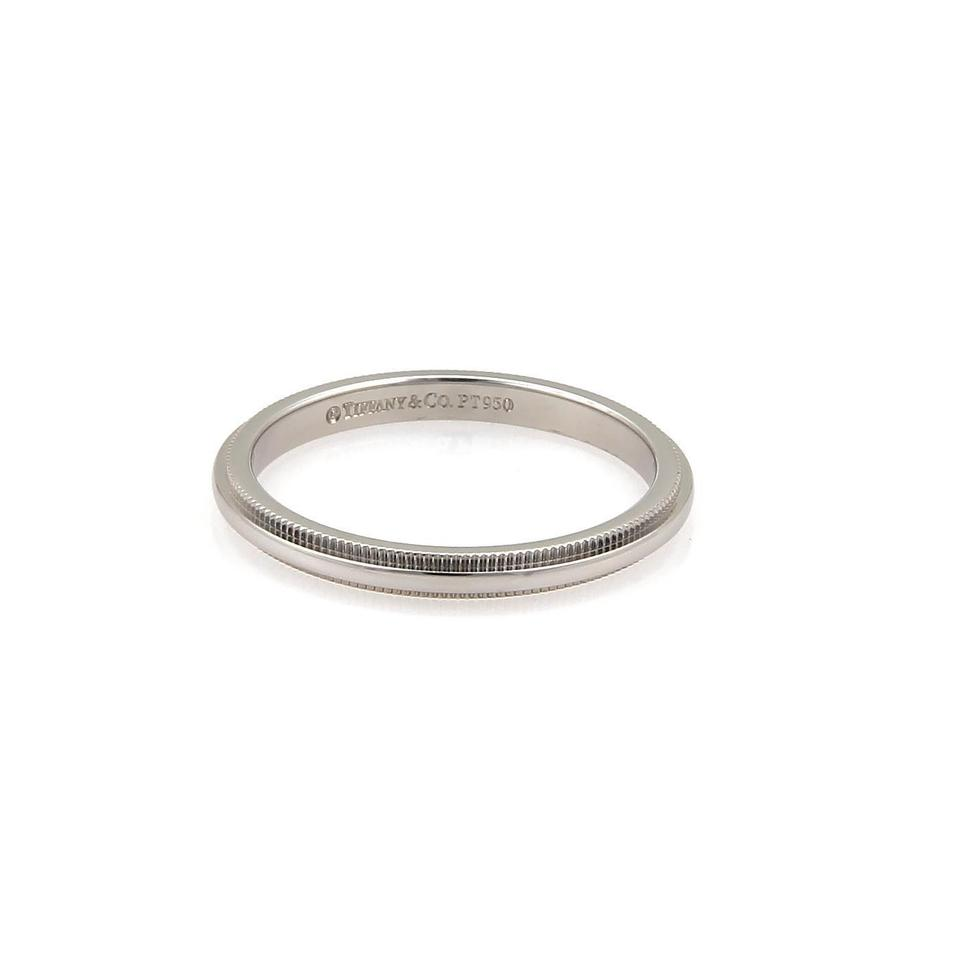 Tiffany & Co. Platinum 2mm Wide Double Milgrain Band Size