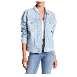 7 For All Mankind blue Womens Jean Jacket