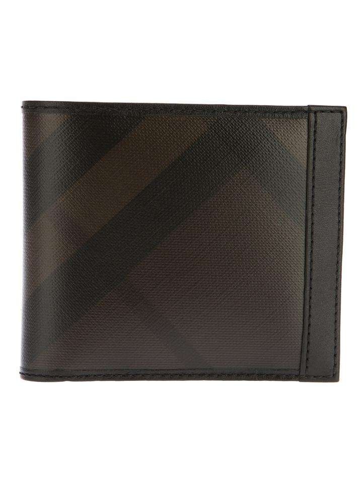 agreatvarietyofmodels promotion finest selection Burberry Chocolate Smoked Check Id Billfold Men's Wallet