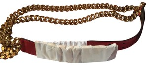 Moschino 30th Anniversary Special Edition Red Gold Chain Belt