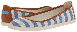 Nine West Blue & White Flats
