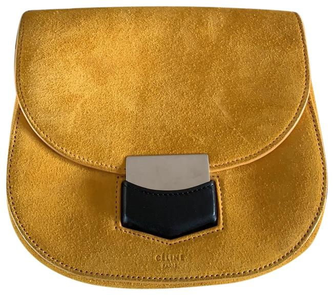 Item - Trotteur Small Yellow Suede Cross Body Bag