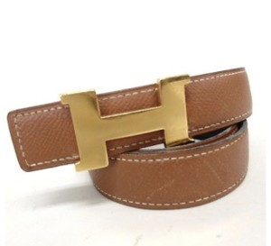 Herms Hermes Contance Gold/Black Reversible 65cm/26 inches belt