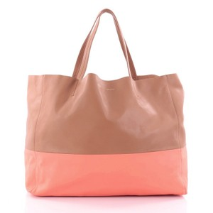 Céline Leather Tote in brown and pink