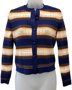 Tanya Taylor Buttons Stripes Cropped Cardigan