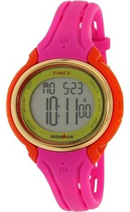 Timex TW5M02800 Ironman Men's Pink Silicone Band With Grey Digital Dial