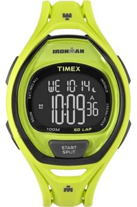 Timex TW5M01700 Ironman Men's Yellow Rubber Band With Black Digital Dial