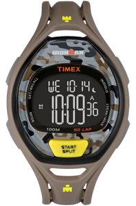 Timex TW5M01300 Indiglo Men's Brown Rubber Band With Black Digital Dial
