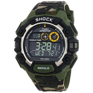 Timex T49971 Chronograph Men's Camouflage Resin Band With Black Digital Dial