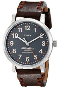 Timex TW2P58700 Waterbury Men's Brown Leather Band With Grey Analog Dial