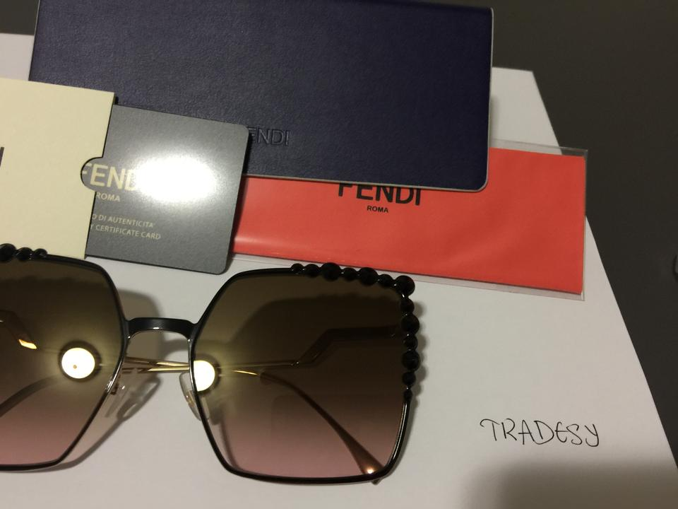 aa3387416dcb Fendi Black Frame New Ff 0259 Oversized Square Sunglasses - Tradesy