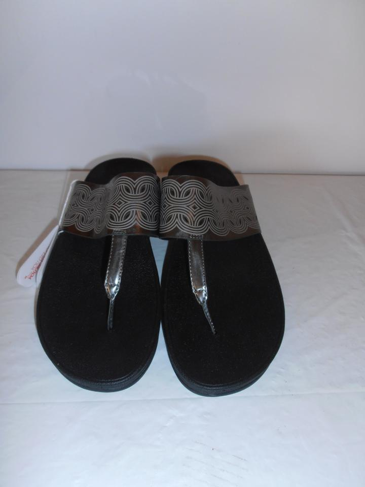 138acf6e7 FitFlop Silver Women Flora W Cut Outs New W Tags Sandals Size US 7 ...