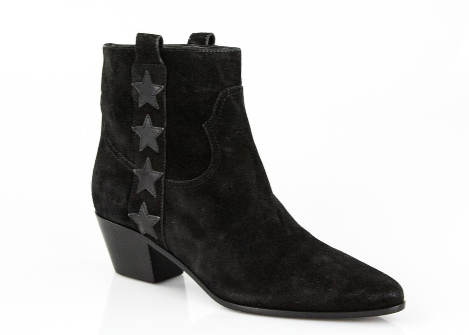 2134056c3383 Saint Laurent Black Rock 40 Star Suede Ankle Boots Booties. Size  EU 37.5  ...