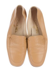 Chanel Leather Tan Flats