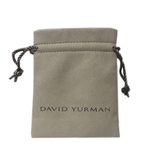 David Yurman Large Tan Suede Drawstring Jewelry Pouch NEW