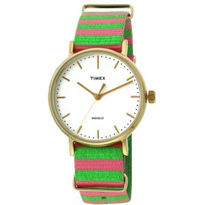 Timex TW2P91800 Weekender Women's Muti Fabric Band With White Analog Dial