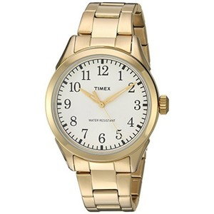 Timex TW2R10000 Briarwood Unisex Gold Steel Band With White Analog Dial