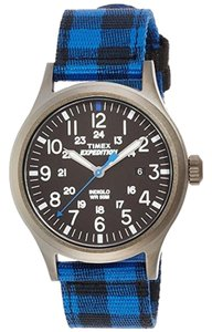 Timex TW4B02100 Expedition Men Two Tone Fabric Band With Black Analog Dial