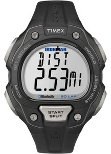 Timex TW5K86500 Ironman Men's Black Resin Band With Grey Digital Dial