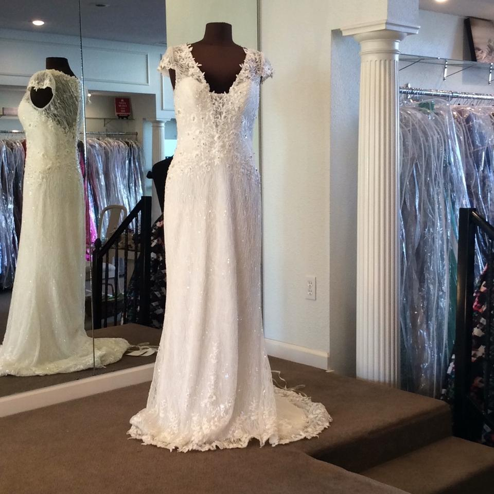 Maggie Sottero Lace Wedding Gown: Maggie Sottero Ivory Beaded Lace 5st034 Sexy Wedding Dress