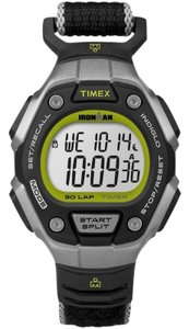 Timex TW5K89800 Ironman Women's Black Cloth Band With White Digital Dial