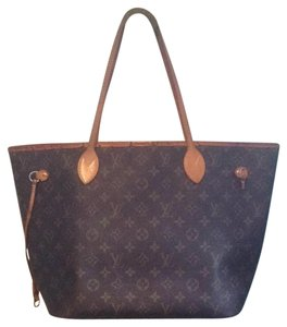Louis Vuitton Neverfull Damier Ebene Azur Speedy Tote in Brown