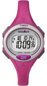 Timex TW5K90300 Ironman Unisex Pink Resin Band With White Digital Dial